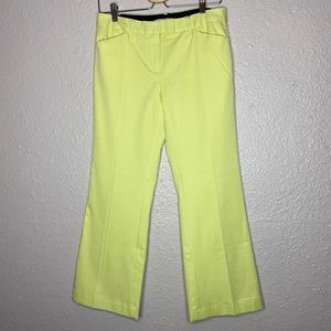 Tommy Hilfiger Lime Green Straight Legged Pants